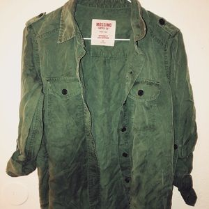 Mossimo Button-Down Olive Green Shirt